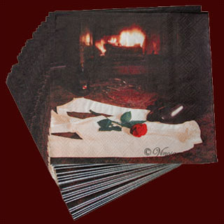 Romance by the Fire Cocktail Napkin